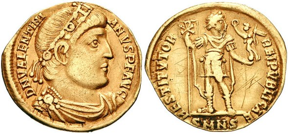 coin struck ad 364